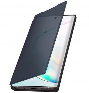 Samsung Galaxy Note 10 Flip Cover mit Spiegeleffekt & Standfunktion - Schwarz - Vorschau 5