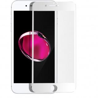 Premium Panzerglas Schutzfolie für Apple iPhone 7 Plus / 8 Plus - Rand Weiß