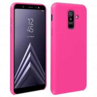 Halbsteife Silikon Handyhülle Galaxy A6 +, Soft Touch - Rosa