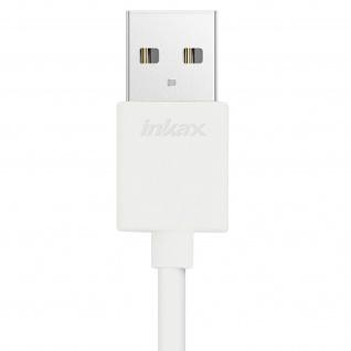 Inkax USB Ladekabel Micro-USB + iPhone/iPad/USB Typ-C Stecker - Länge 1M - Weiß - Vorschau 5