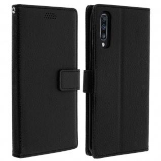 Samsung Galaxy A70 Flip-Cover mit Kartenfächern & Standfunktion - Schwarz