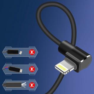 Hoco 1.2m Lightning Kabel mit USB-Stecker und Quick Charge Sync ? Schwarz - Vorschau 5