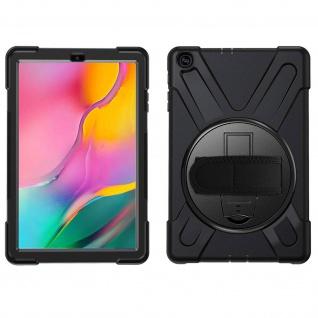 Stoßfeste Hybrid Schutzhülle + Ständer Samsung Galaxy Tab A 10.1 2019 ? Schwarz