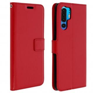 Flip Stand Cover Brieftasche & Standfunktion für Huawei P30 Pro - Rot - Vorschau 1