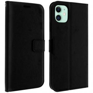 Flip Cover Stand Case Brieftasche & Standfunktion Apple iPhone 11 - Schwarz