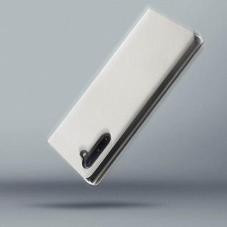 Flip Book Cover, Klappetui aus Kunstleder für Samsung Galaxy Note 10 - Weiß - Vorschau 4