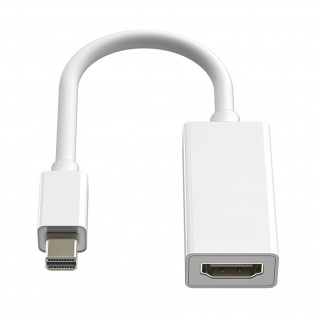 Adapter / Videokabel Mini DisplayPort Kabel auf HDMI Video-Kabel by LinQ - Weiß