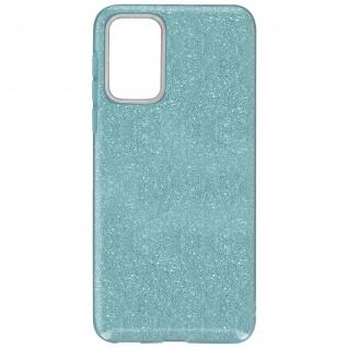 Schutzhülle, Glitter Case für Samsung Galaxy A72, shiny & girly Hülle â€? Blau