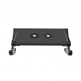 Betttablett, höhenverstellbares Tabletttisch mit integriertem Kühler â€? Schwarz