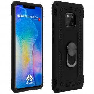 Hybrid Handyhülle mit Ring Halterung für Huawei Mate 20 Pro - Schwarz