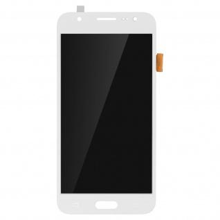 Ersatzdisplay mit Galaxy J5 (2015) kompatibel, Scheibe vormontiert - Weiß