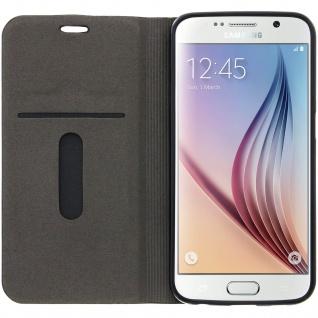 Samsung Galaxy S6 Flip-Cover Brieftaschenstil Kartenfach - Denim Braun - Vorschau 3