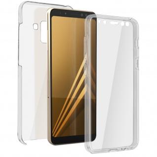 Schutzhülle für Samsung Galaxy A8, Vorder- + Rückseite ? Transparent