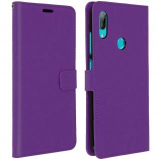 Flip Stand Cover Brieftasche & Standfunktion für Huawei Y7 2019 - Violett