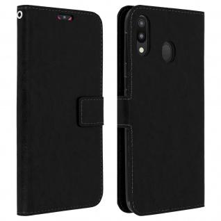 Flip Stand Cover Brieftasche & Standfunktion für Samsung Galaxy M20 - Schwarz