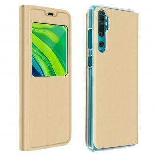 Klapphülle mit Sichtfenster für Xiaomi Mi Note 10 Lite ? Gold