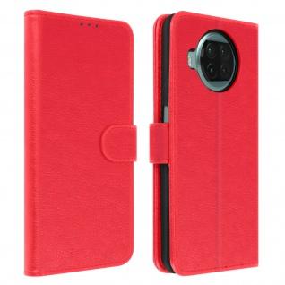 Flip Cover Geldbörse, Klappetui Kunstleder für Xiaomi Mi 10T Lite ? Rot
