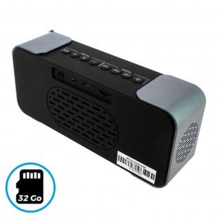 Bluetooth Wireless Speakerphone Alarm Clock Radio Blaupunkt - Silber / Schwarz