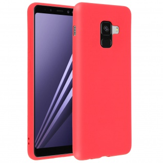 Forcell Samsung Galaxy A8 Soft Touch Silikonhülle, soft case ? Pastellrot