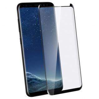 Displayschutzfolie Hartglas mit abgerundeten Kanten Samsung Galaxy S8 - Schwarz