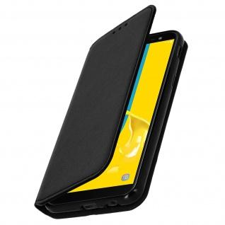Flip Cover mit Geldbörse Classic Edition für Samsung Galaxy J6 - Schwarz