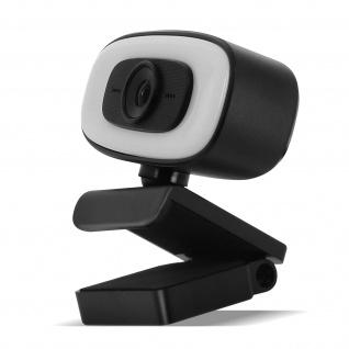 PC / Computer 2K 1440P USB-Webcam Ringlicht mit Mikrofon, Stativ ? Schwarz