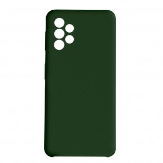 Venus Series halbsteife Soft-Touch Silikonhülle für Samsung A72 ? Dunkelgrün