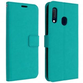 Flip Cover Stand Case Brieftasche & Standfunktion Galaxy A20e - Türkisblau