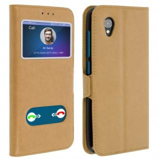 Alcatel 1 Flip Cover Doppelfenster & Standfunktion - Gold