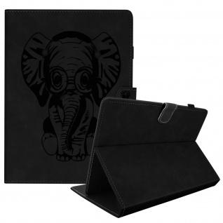 Universal Klappetui für 10 Zoll Tablets, Kartenfächer & Standfunktion - Schwarz