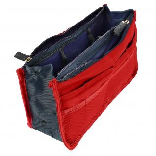 Universelle Tasche mit vielen Fächern - Rot