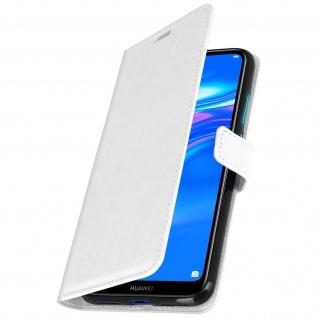 Flip Stand Cover Brieftasche & Standfunktion für Huawei Y7 2019 - Weiß - Vorschau 2