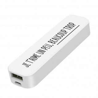 Universal-Powerbank 2600mAh USB-Anschluss 1A / 5V Custom Setty - Weiß