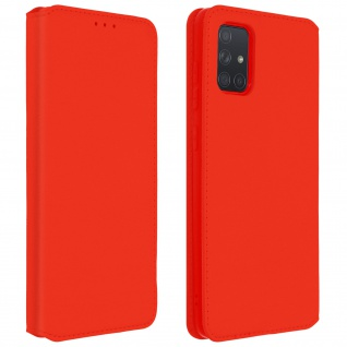 Kunstleder Cover Classic Edition Samsung Galaxy A71 - Rot