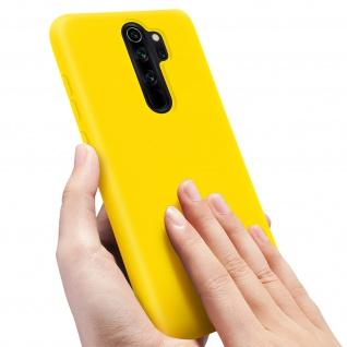 Halbsteife Silikon Handyhülle Xiaomi Redmi Note 8 Pro, Soft Touch - Gelb - Vorschau 5