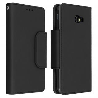 Soft Touch Klappetui mit abnehmbarer Hülle Galaxy J4 Plus, Geldbörse ? Schwarz