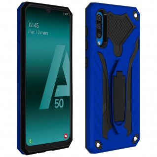 Samsung Galaxy A50 Hybrid stoßfeste Schutzhülle mit Ständer - Blau