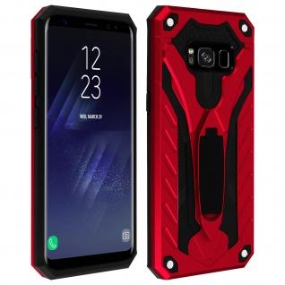 Samsung Galaxy S8 Plus Hybrid stoßfeste Schutzhülle mit Ständer - Rot