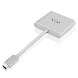 Multiport Adapter USB TypeC mit HDMI/USB 3.0/USB-COTG Technologie von MTK-Silber
