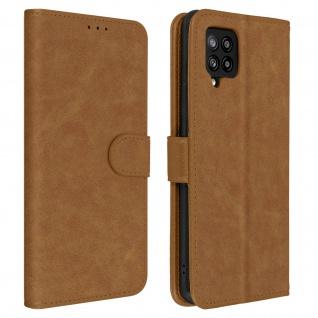 Flip Cover Geldbörse, Etui Kunstleder für Galaxy A42 5G ? Braun