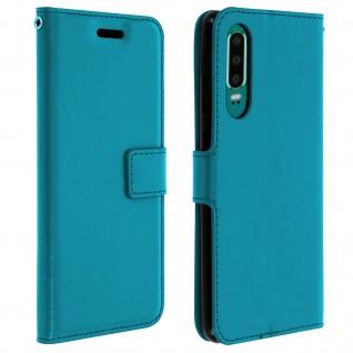 Flip Stand Cover Brieftasche & Standfunktion für Huawei P30 - Blau