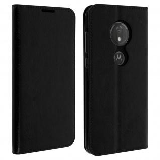 Business Leder Cover, Schutzhülle für Motorola Moto G7/G7 Plus - Schwarz