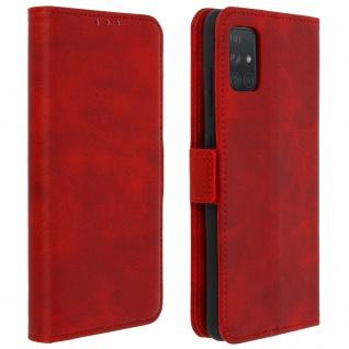Klapphülle mit Kartenfächer / Standfunktion für Samsung Galaxy A51 - Rot