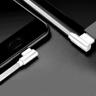 USB Typ-C /USB 3A abgewinkeltes Kabel Aufladen & Synchronisation 1.2m LinQ Weiß - Vorschau 3