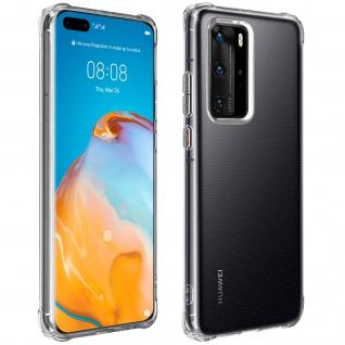 Premium Schutz-Set Huawei P40 Pro Schutzhülle + Schutzfolie ? Transparent
