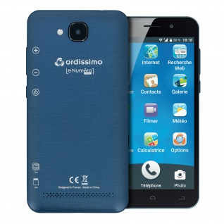 "Smartphone Ordissimo Le Numero 1 Mini DualSIM 5"" Bildschirm Schutzhülle - Schwarz"