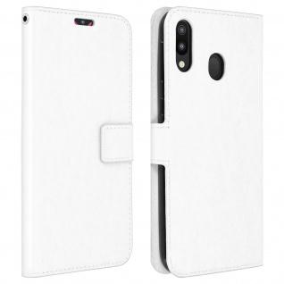 Flip Stand Cover Brieftasche & Standfunktion für Samsung Galaxy M20 - Weiß