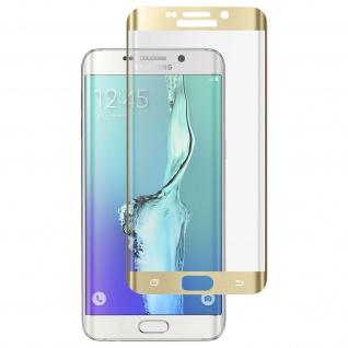 Displayschutzfolie Hartglas abgerundete Ecken für Galaxy S6 Edge Plus - Gold