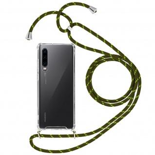 Handykette Handyhülle mit Halsband für Huawei P30 - Grün