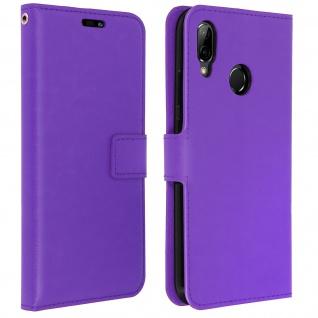 Flip Cover Stand Case Brieftasche & Standfunktion für Huawei P20 Lite - Violett
